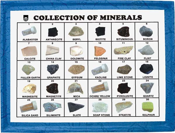 Manufacturers Of Collection Of 30 Minerals Minerals